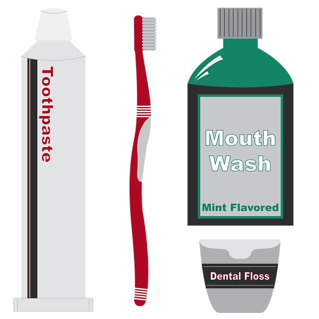 Mouthwash and toothbrush